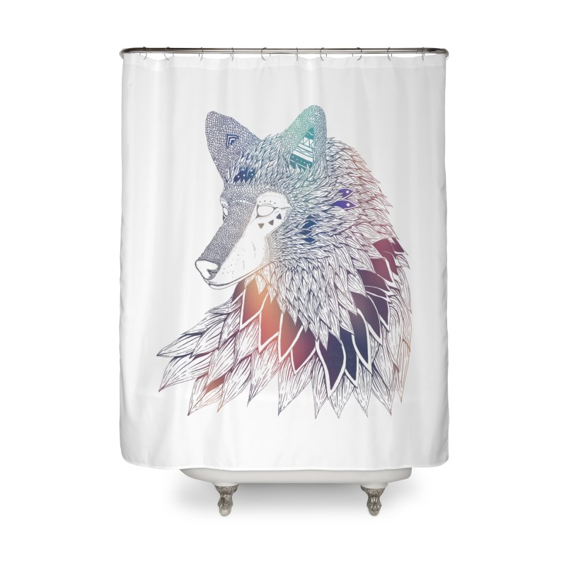 Lone Wolf Home Shower Curtain by Lenny B. on Threadless
