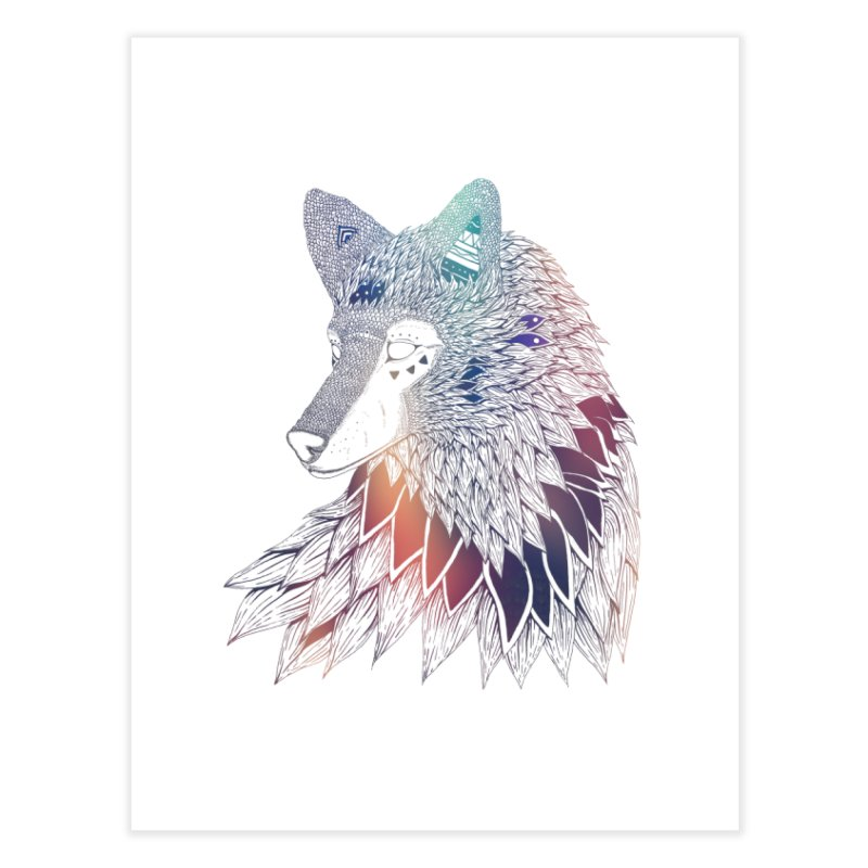 Lone Wolf Home Fine Art Print by Lenny B. on Threadless
