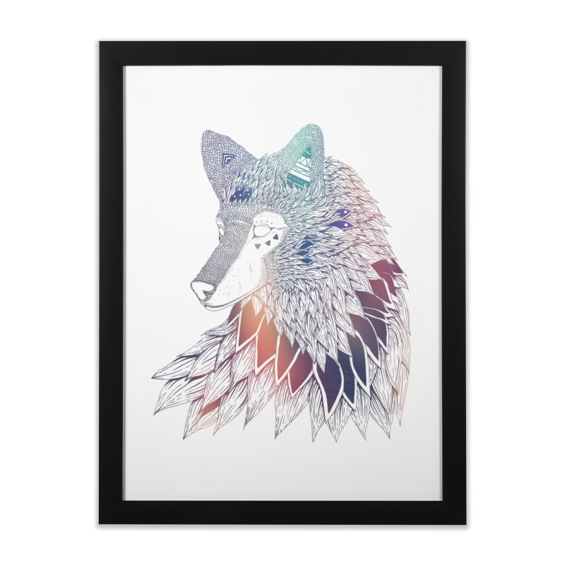 Lone Wolf Home Framed Fine Art Print by Lenny B. on Threadless