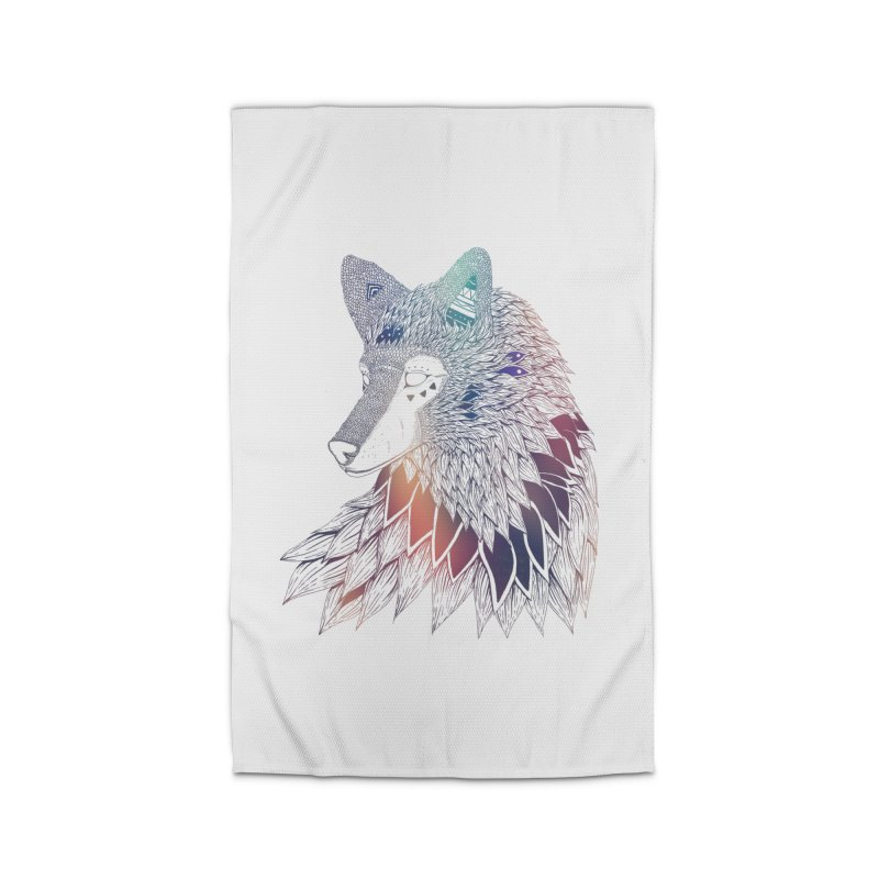 Lone Wolf Home Rug by Lenny B. on Threadless