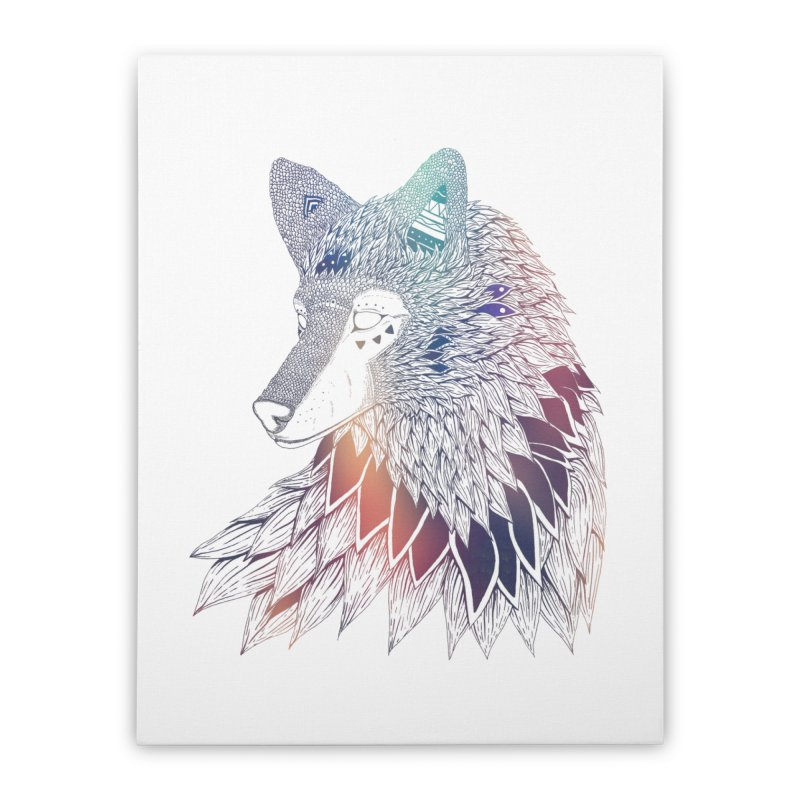 Lone Wolf Home Stretched Canvas by Lenny B. on Threadless