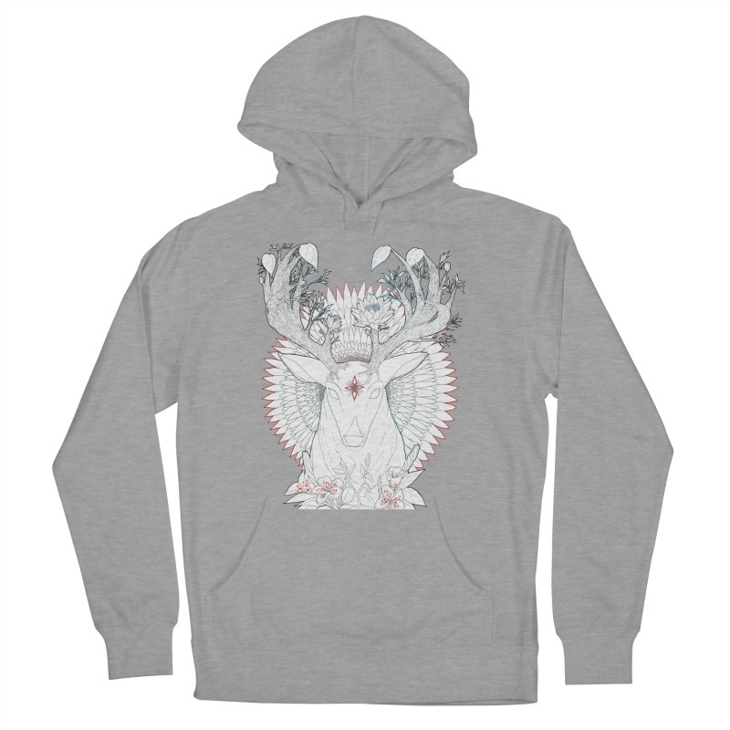 Deer, Oh, Deer Men's French Terry Pullover Hoody by Lenny B. on Threadless