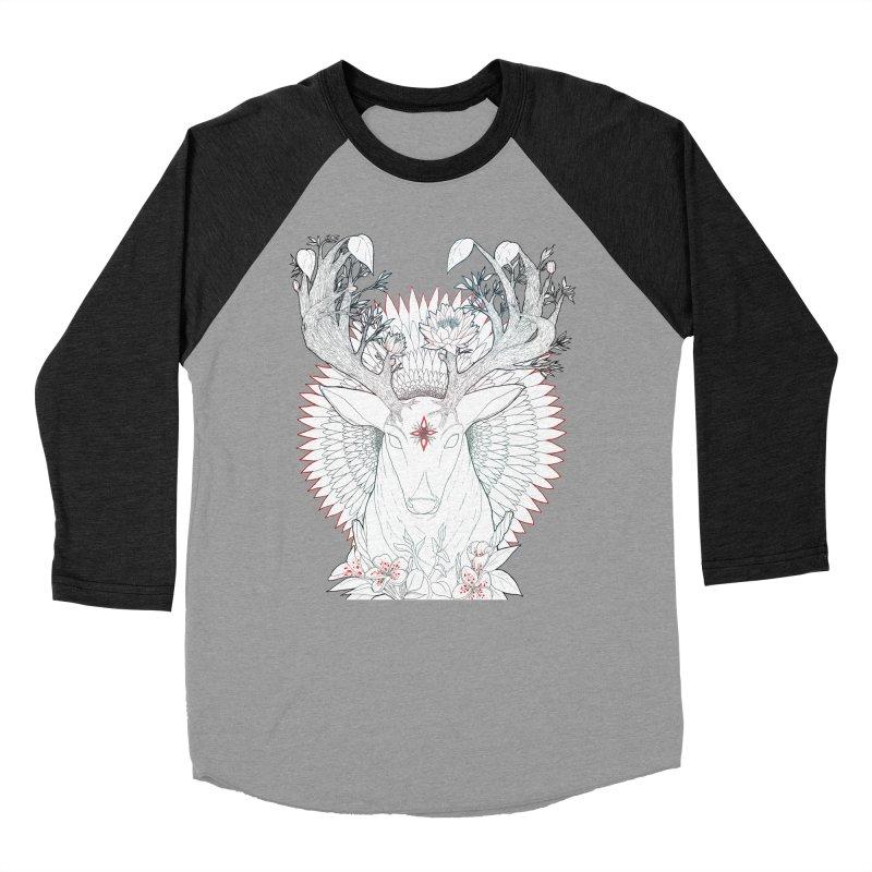 Deer, Oh, Deer Men's Baseball Triblend Longsleeve T-Shirt by Lenny B. on Threadless