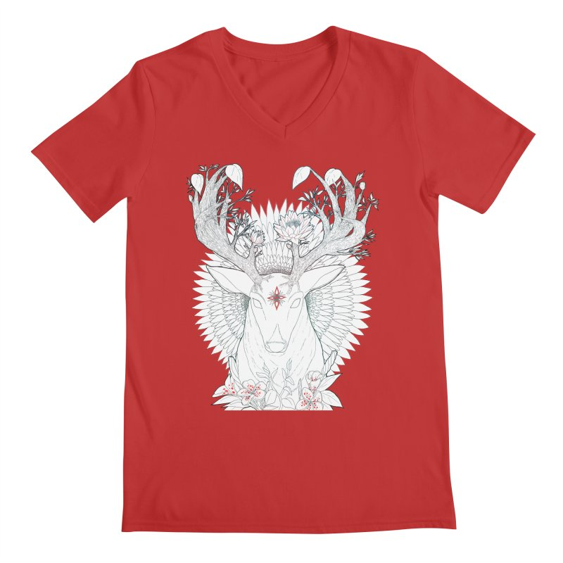 Deer, Oh, Deer Men's V-Neck by Lenny B. on Threadless