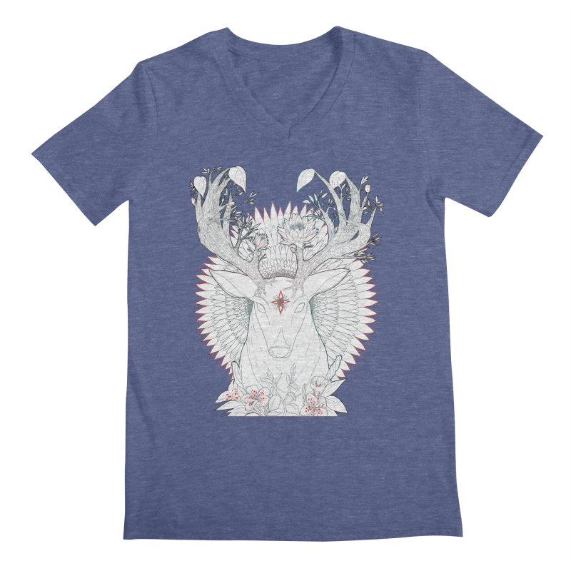 Deer, Oh, Deer Men's V-Neck by Lenny B. on Threadless