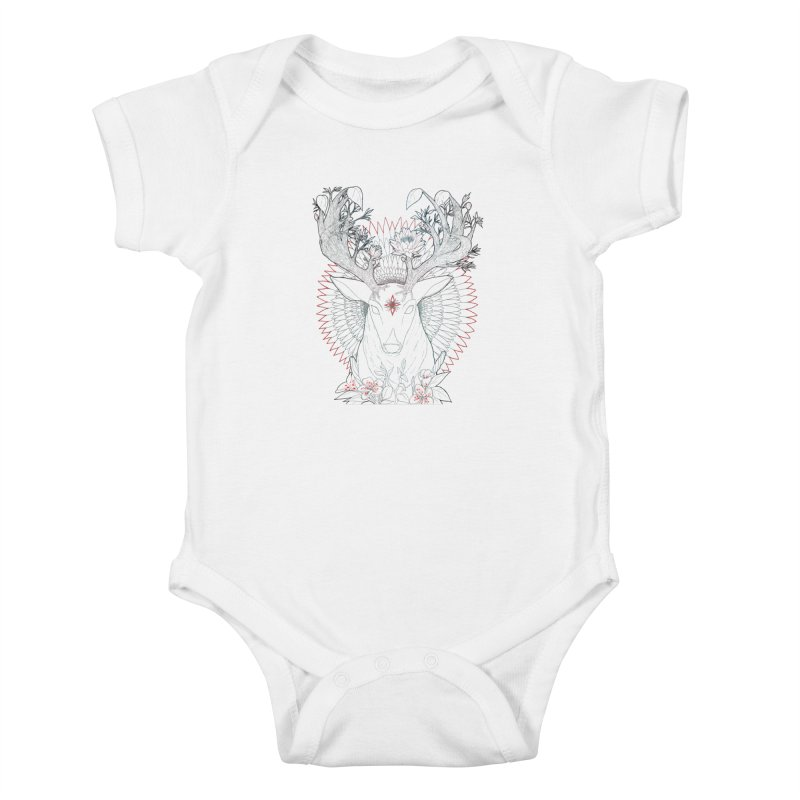 Deer, Oh, Deer Kids Baby Bodysuit by Lenny B. on Threadless