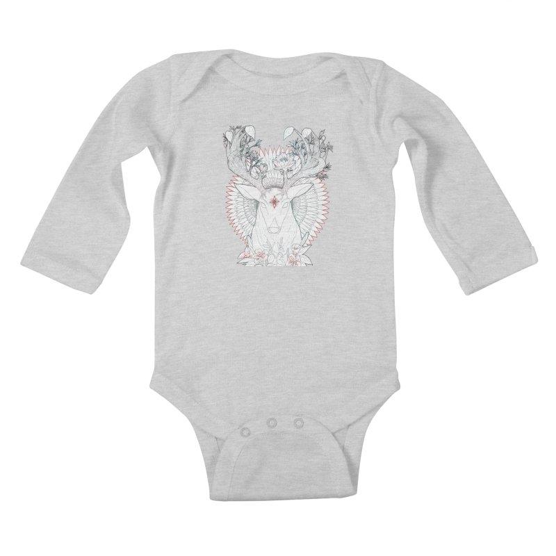 Deer, Oh, Deer Kids Baby Longsleeve Bodysuit by Lenny B. on Threadless