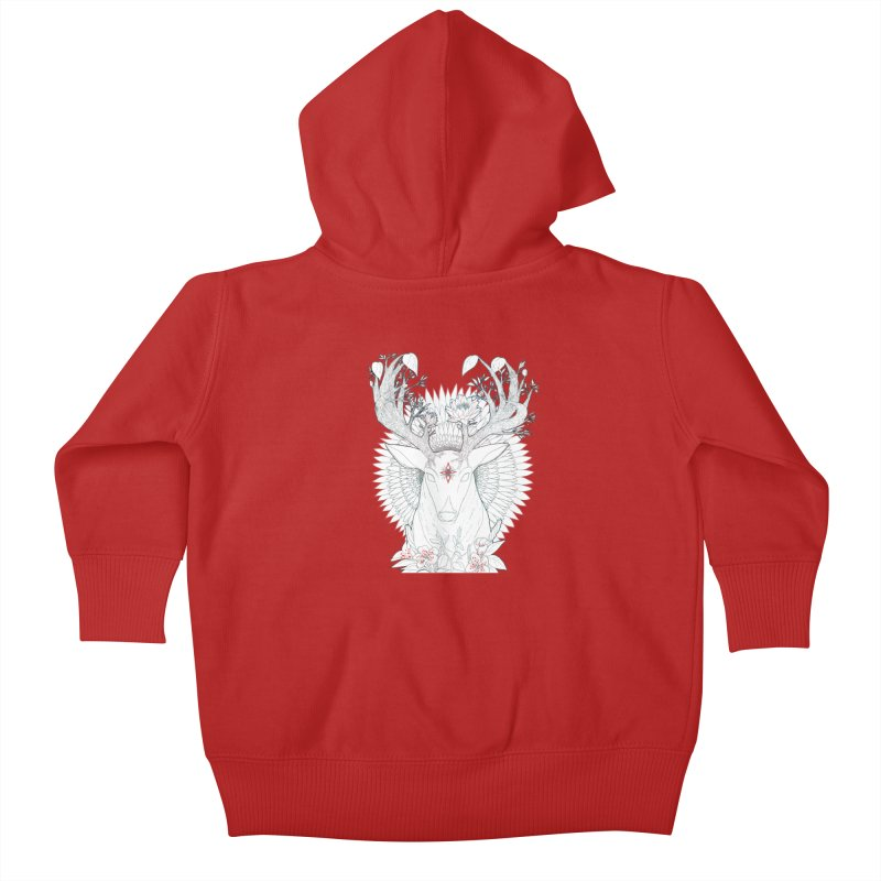 Deer, Oh, Deer Kids Baby Zip-Up Hoody by Lenny B. on Threadless