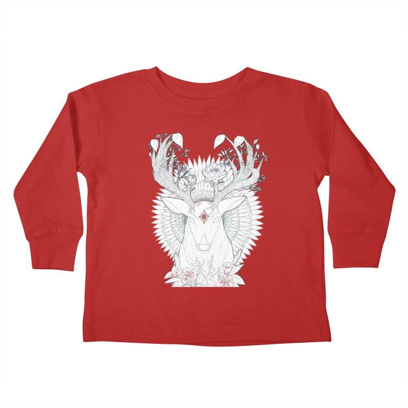 Deer, Oh, Deer Kids Toddler Longsleeve T-Shirt by Lenny B. on Threadless
