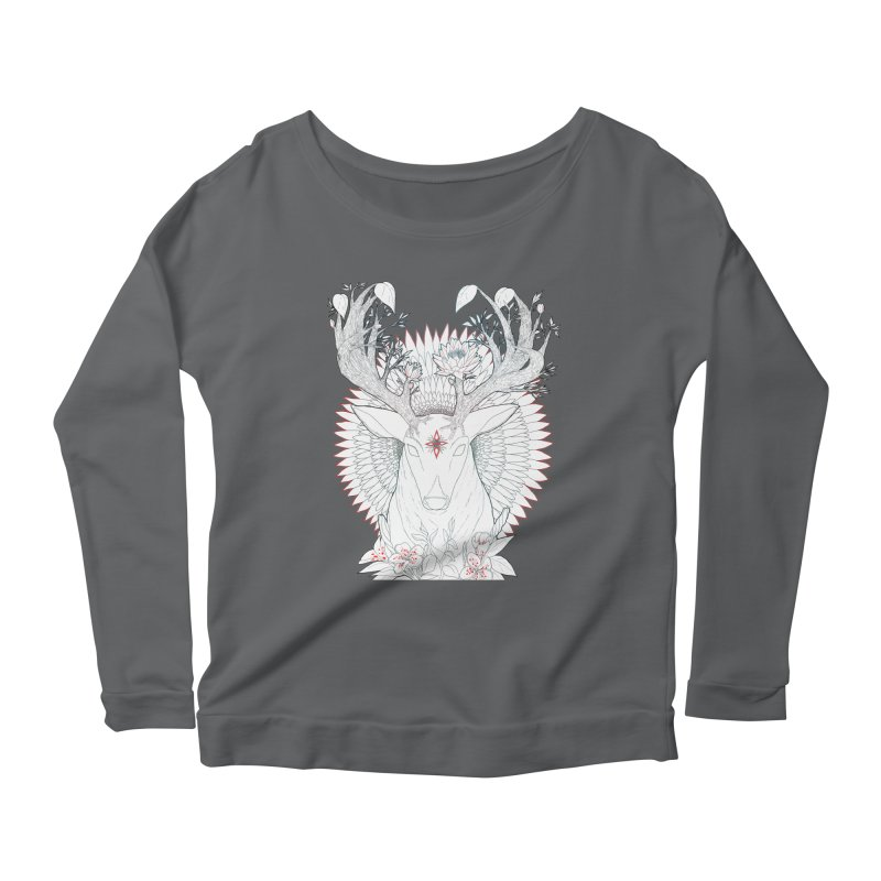 Deer, Oh, Deer Women's Longsleeve Scoopneck  by Lenny B. on Threadless