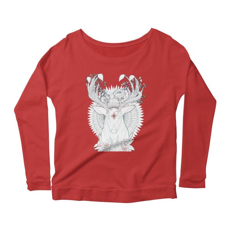 Deer, Oh, Deer Women's Longsleeve Scoopneck  by Lenny B. on Threadless