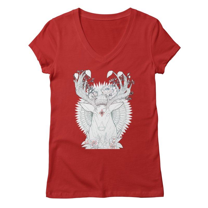 Deer, Oh, Deer Women's V-Neck by Lenny B. on Threadless