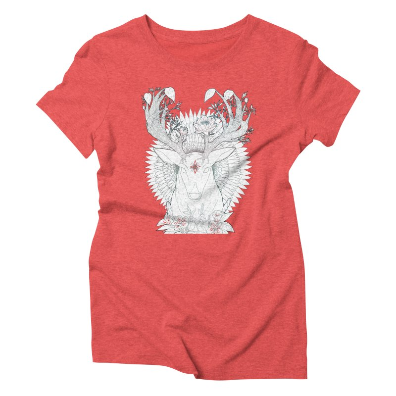 Deer, Oh, Deer Women's Triblend T-Shirt by Lenny B. on Threadless