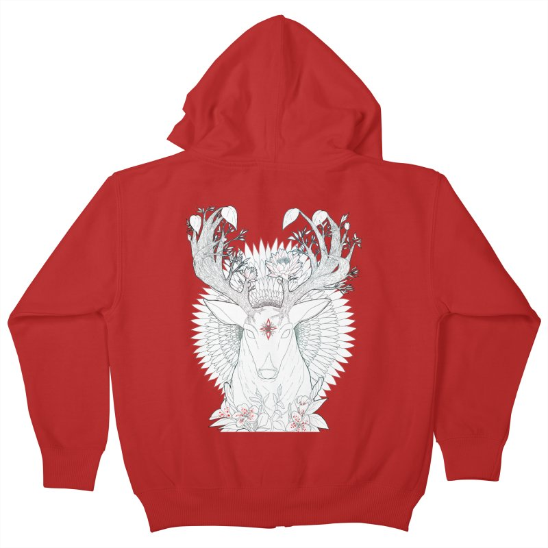 Deer, Oh, Deer Kids Zip-Up Hoody by Lenny B. on Threadless