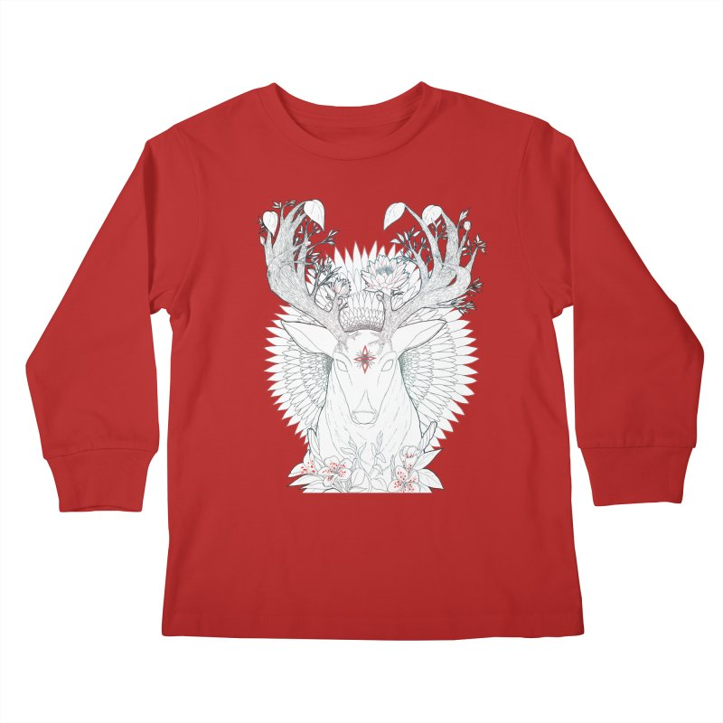 Deer, Oh, Deer Kids Longsleeve T-Shirt by Lenny B. on Threadless