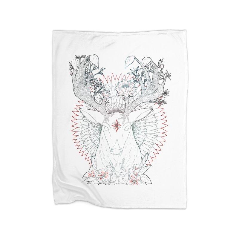 Deer, Oh, Deer Home Blanket by Lenny B. on Threadless