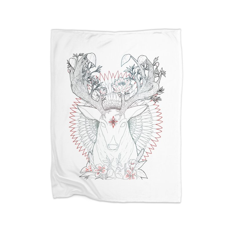 Deer, Oh, Deer Home Blanket by Lenny B. on Threadless