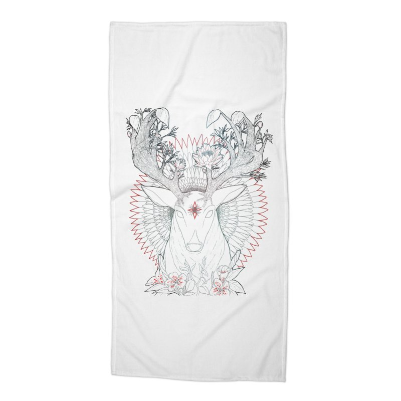 Deer, Oh, Deer Accessories Beach Towel by Lenny B. on Threadless