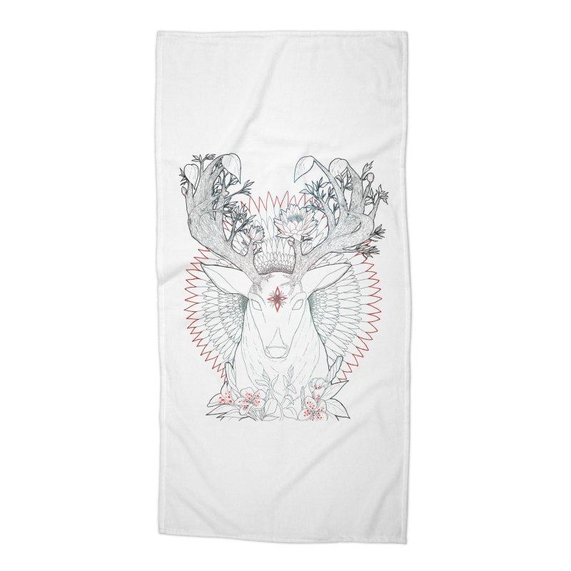 Deer, Oh, Deer Accessories Beach Towel by Lenny B. on Threadless