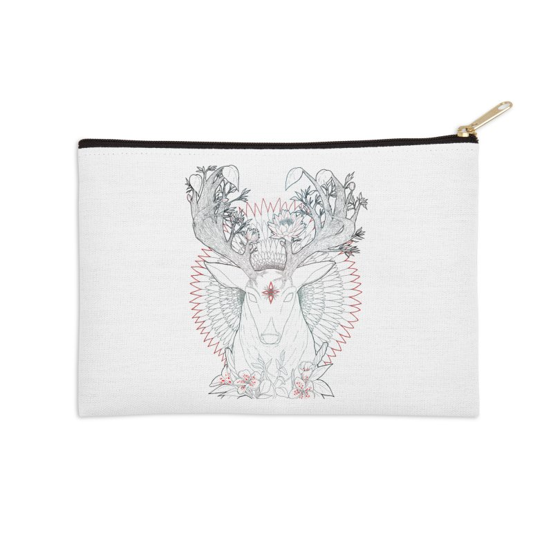 Deer, Oh, Deer Accessories Zip Pouch by Lenny B. on Threadless