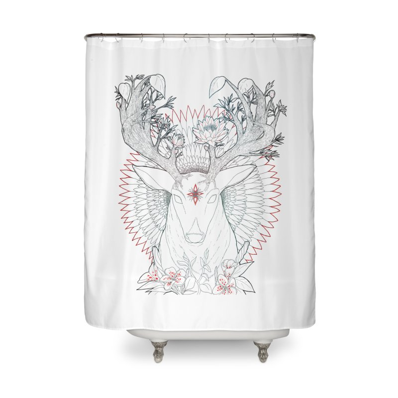 Deer, Oh, Deer Home Shower Curtain by Lenny B. on Threadless
