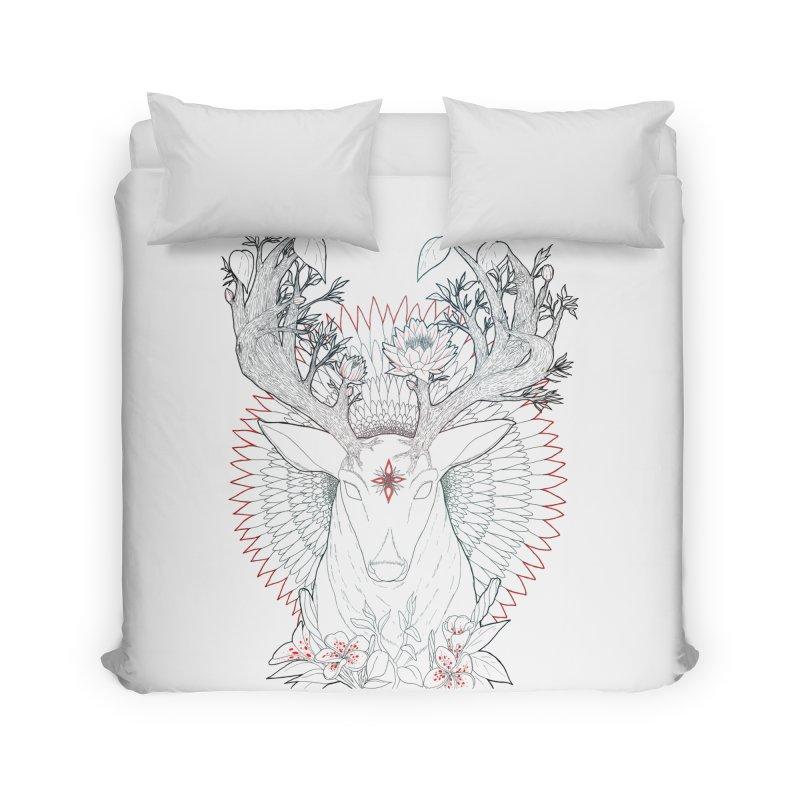 Deer, Oh, Deer Home Duvet by Lenny B. on Threadless