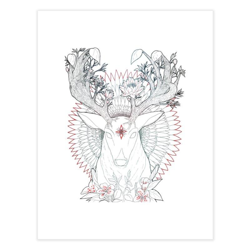 Deer, Oh, Deer Home Fine Art Print by Lenny B. on Threadless