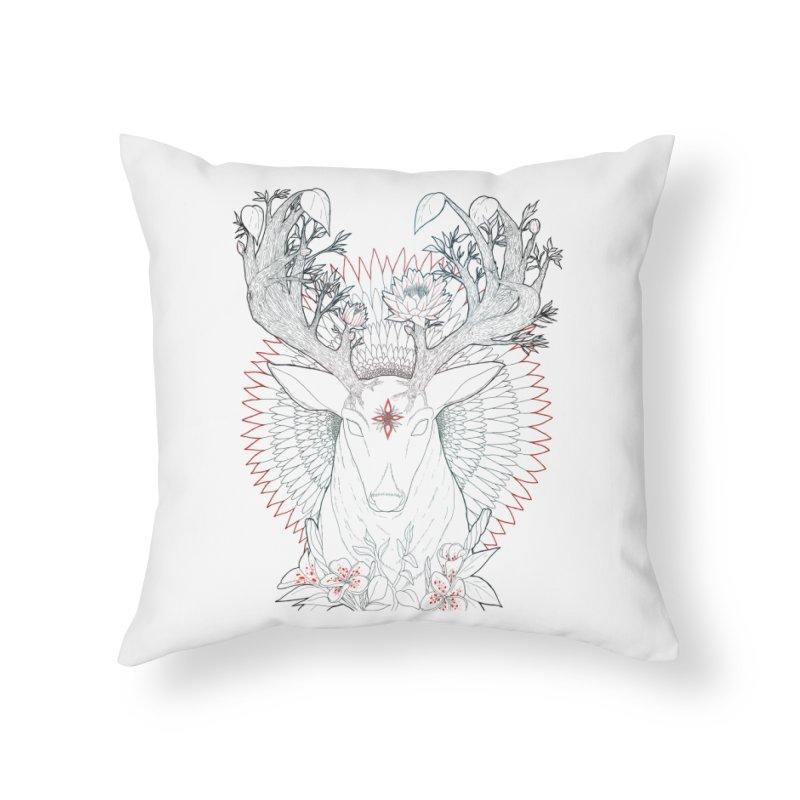 Deer, Oh, Deer Home Throw Pillow by Lenny B. on Threadless