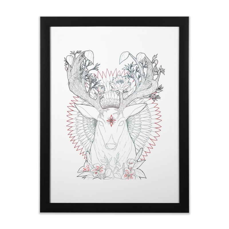 Deer, Oh, Deer Home Framed Fine Art Print by Lenny B. on Threadless