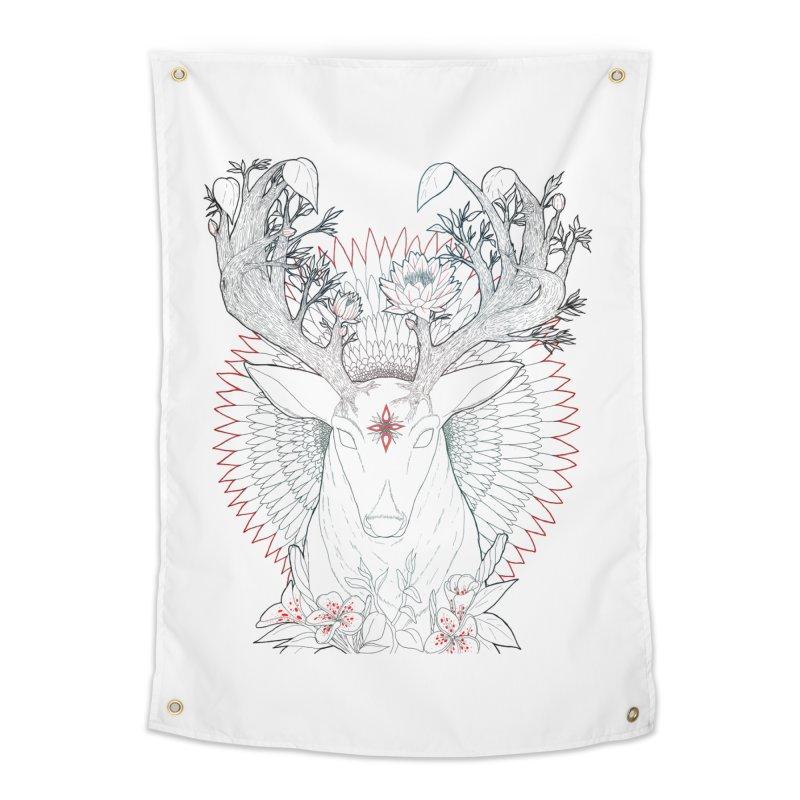 Deer, Oh, Deer Home Tapestry by Lenny B. on Threadless