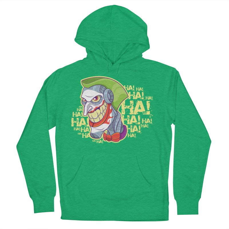Robot Joker Women's French Terry Pullover Hoody by leogoncalves's Artist Shop