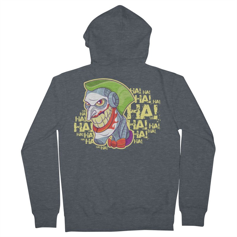 Robot Joker Men's French Terry Zip-Up Hoody by leogoncalves's Artist Shop