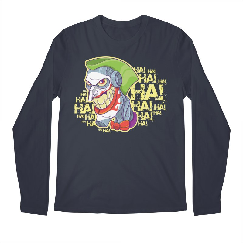 Robot Joker Men's Regular Longsleeve T-Shirt by leogoncalves's Artist Shop