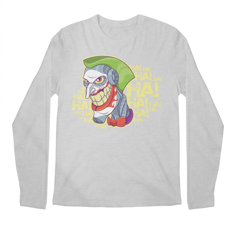 Robot Joker Men's Longsleeve T-Shirt by leogoncalves's Artist Shop