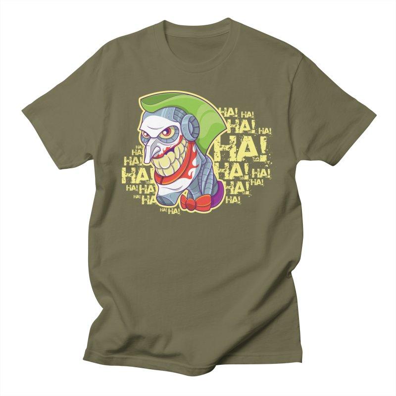 Robot Joker Men's Regular T-Shirt by leogoncalves's Artist Shop