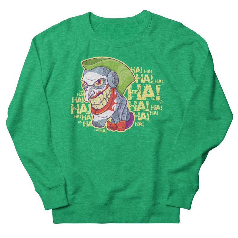 Robot Joker Women's Sweatshirt by leogoncalves's Artist Shop