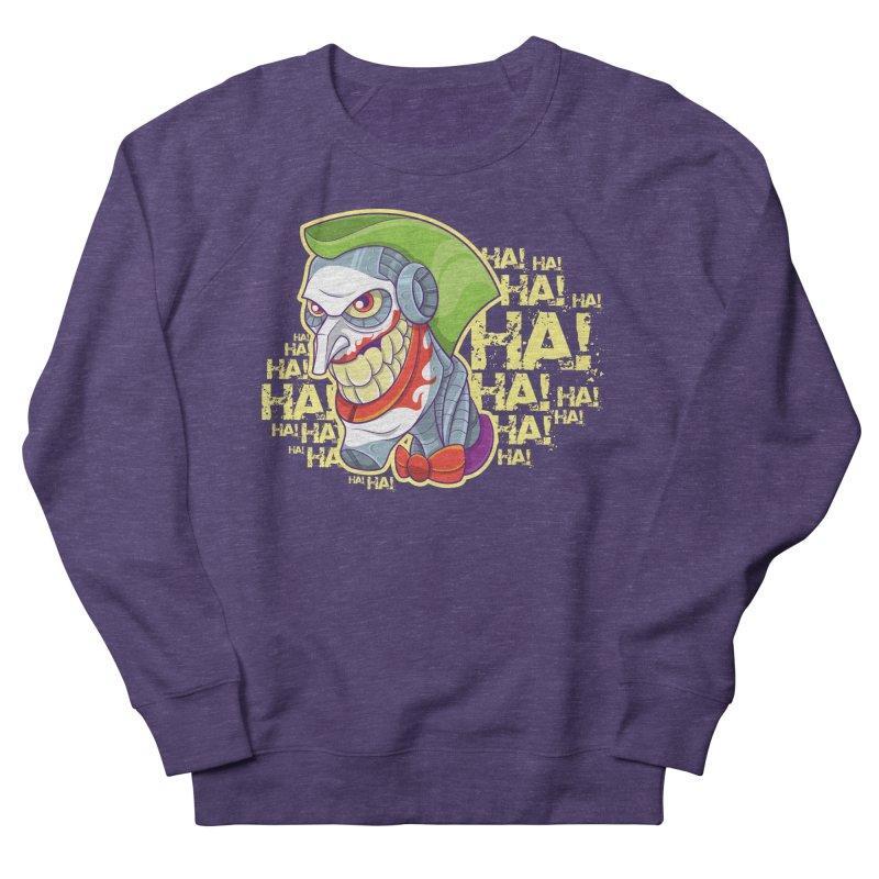Robot Joker Women's French Terry Sweatshirt by leogoncalves's Artist Shop