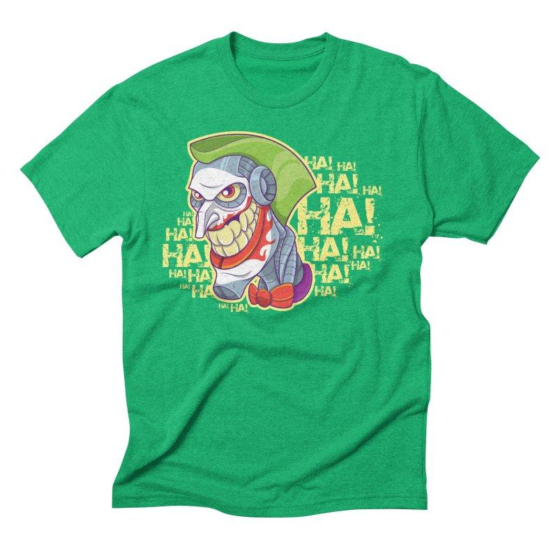 Robot Joker Men's Triblend T-Shirt by leogoncalves's Artist Shop