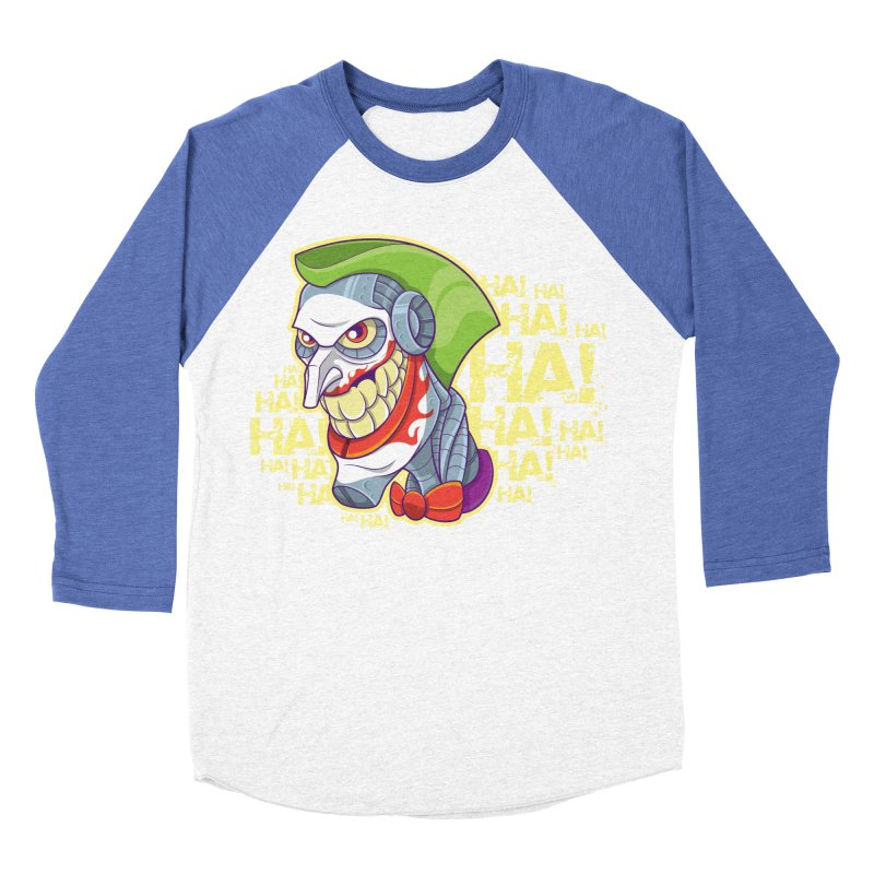 Robot Joker Women's Baseball Triblend T-Shirt by leogoncalves's Artist Shop
