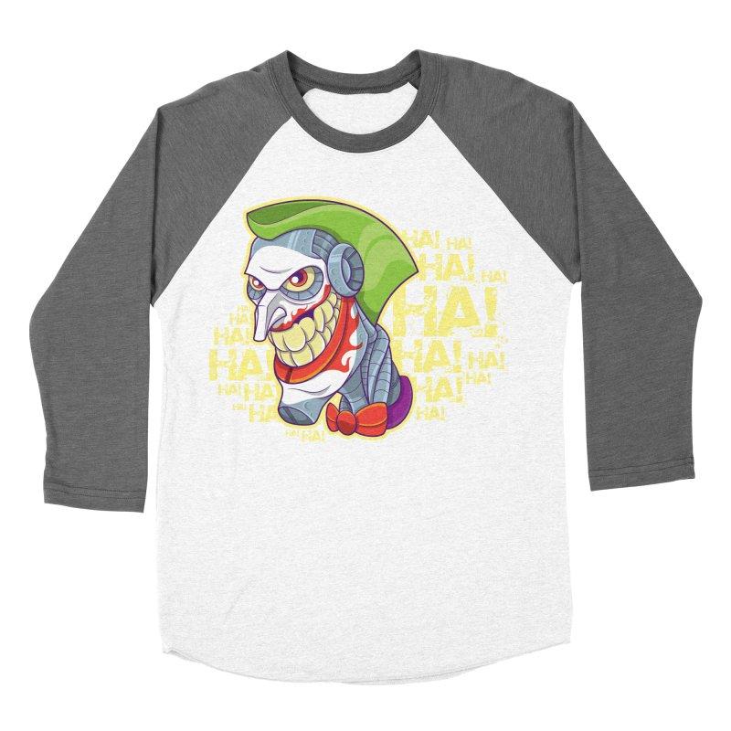Robot Joker Women's Baseball Triblend T-Shirt by leogoncalves's Artist Shop
