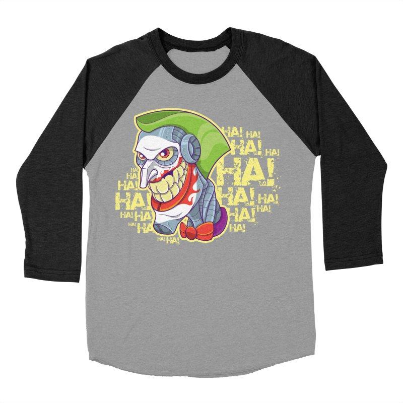 Robot Joker Women's Baseball Triblend Longsleeve T-Shirt by leogoncalves's Artist Shop