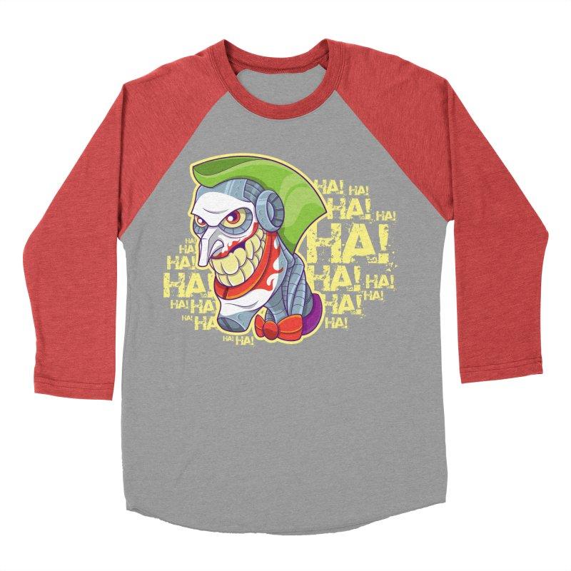 Robot Joker Men's Baseball Triblend T-Shirt by leogoncalves's Artist Shop