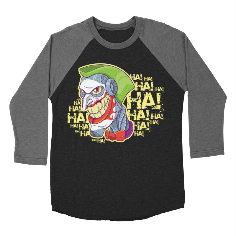 Robot Joker Men's Baseball Triblend T-Shirt by leogoncalves's Artist Shop