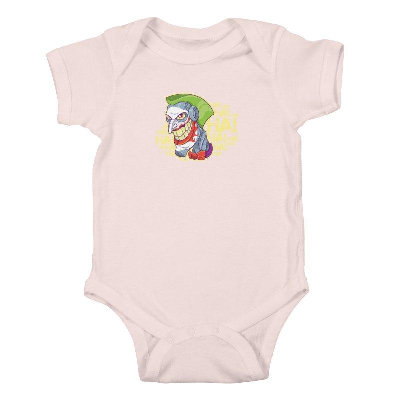Robot Joker Kids Baby Bodysuit by leogoncalves's Artist Shop