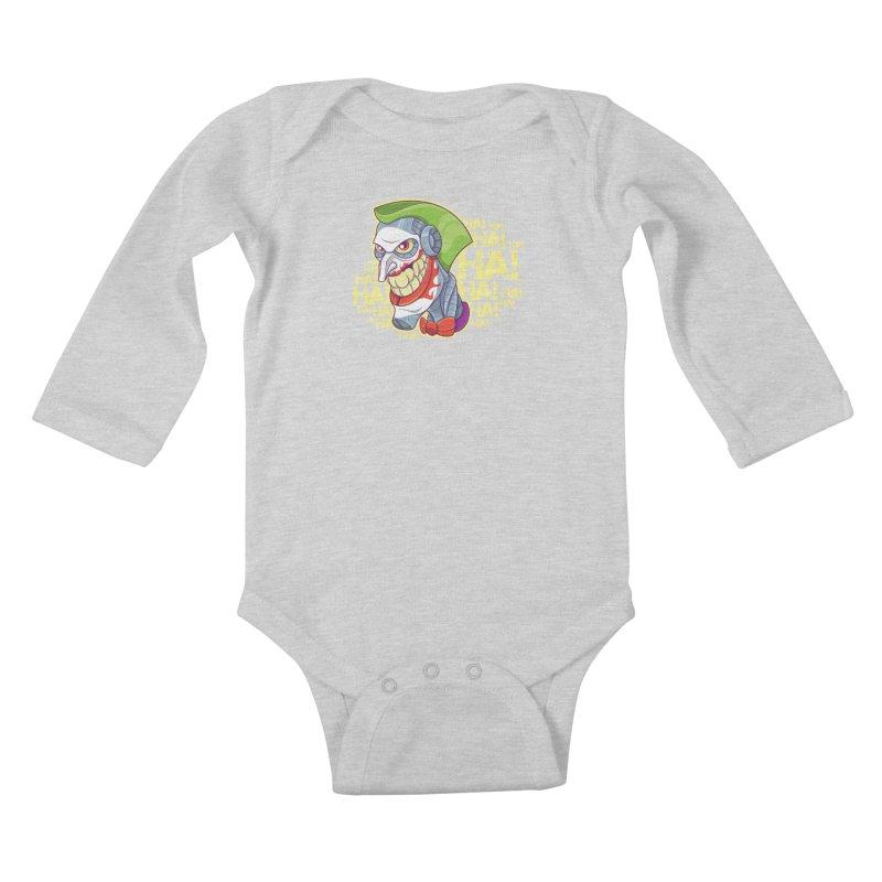Robot Joker Kids Baby Longsleeve Bodysuit by leogoncalves's Artist Shop