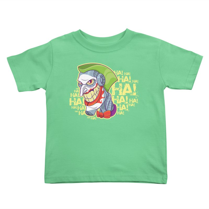 Robot Joker Kids Toddler T-Shirt by leogoncalves's Artist Shop