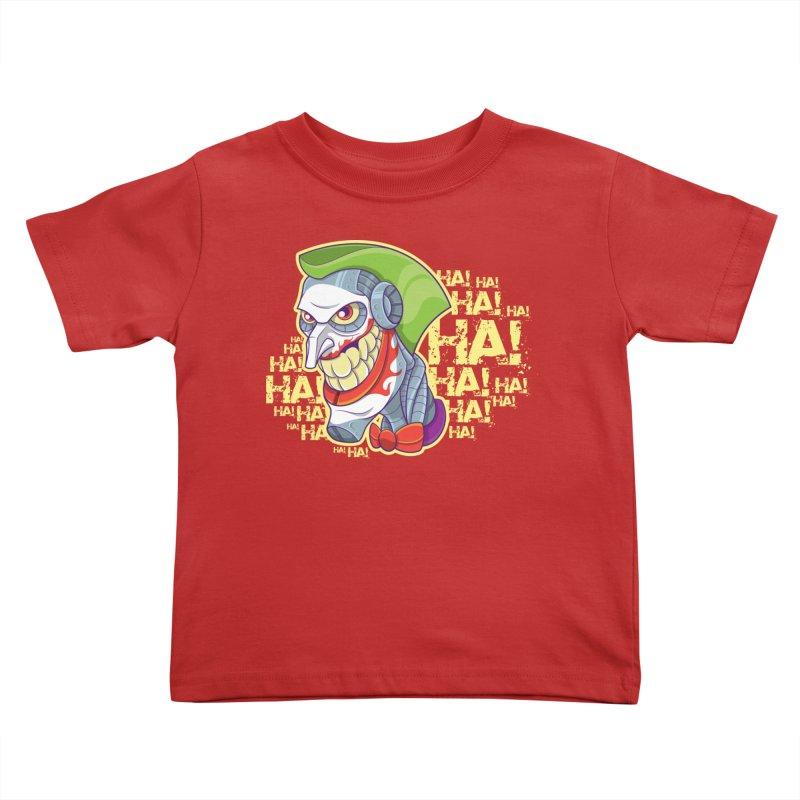Robot Joker Kids Toddler T-Shirt by leogoncalves's Artist Shop