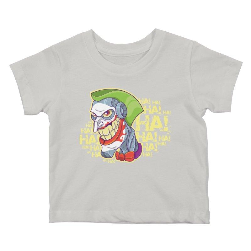 Robot Joker Kids Baby T-Shirt by leogoncalves's Artist Shop