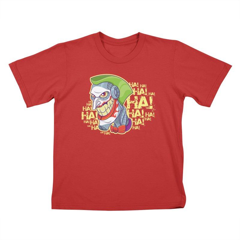 Robot Joker Kids T-Shirt by leogoncalves's Artist Shop