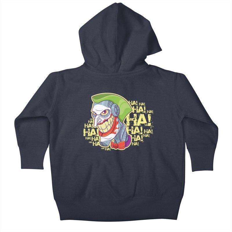 Robot Joker Kids Baby Zip-Up Hoody by leogoncalves's Artist Shop